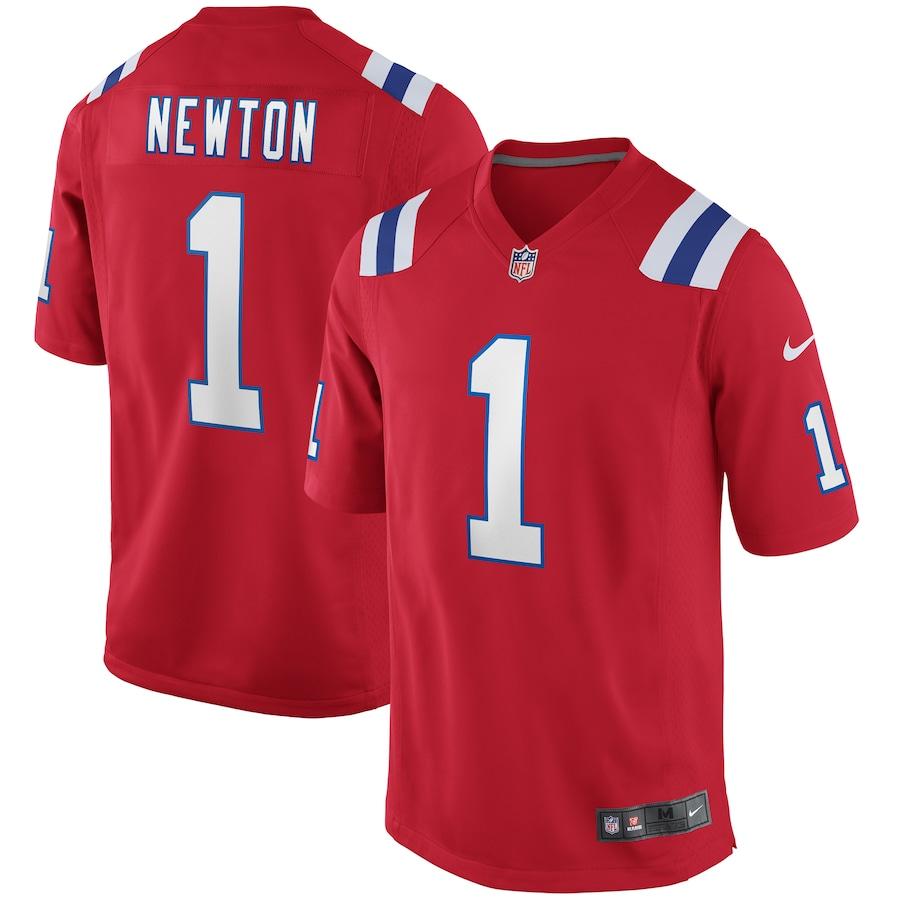 Cam Newton #1 New England Patriots Alternate Game Jersey - Red