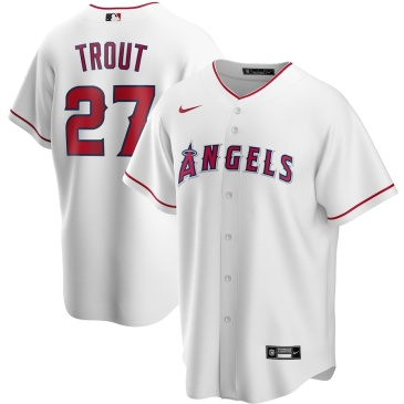 MLB Trout #27 Los Angeles Angels Home Baseball Jersey 2020