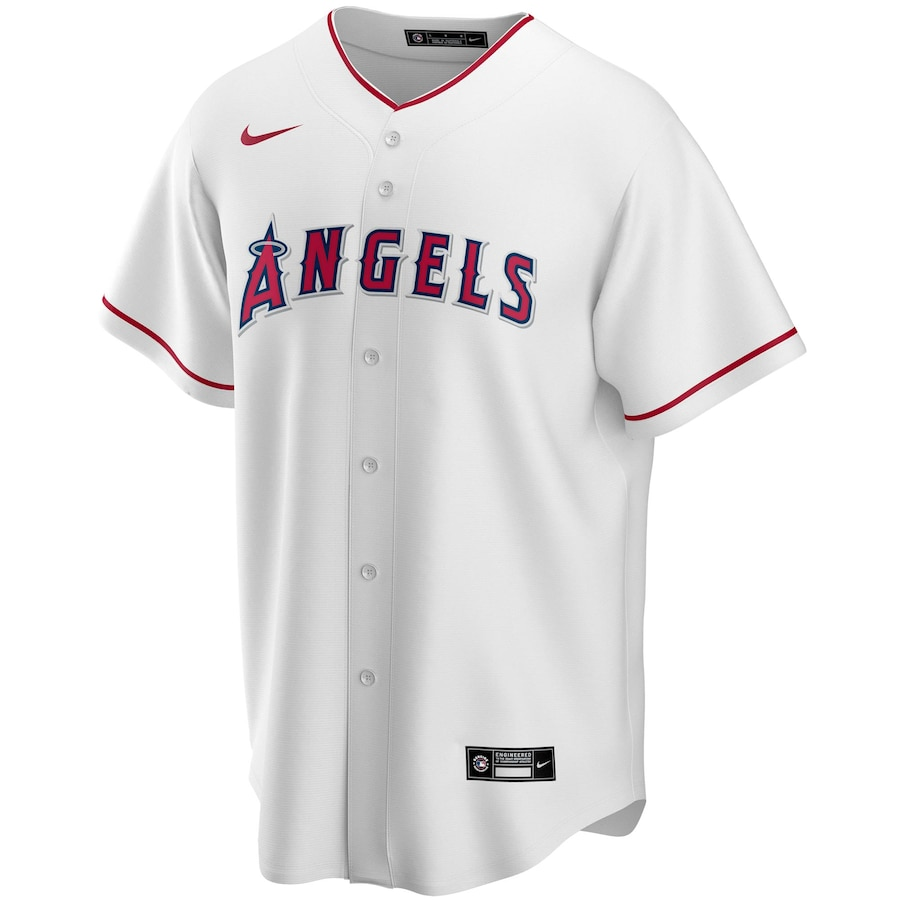 Mike Trout #27 Los Angeles Angels Home 2020 Replica Player Jersey - White