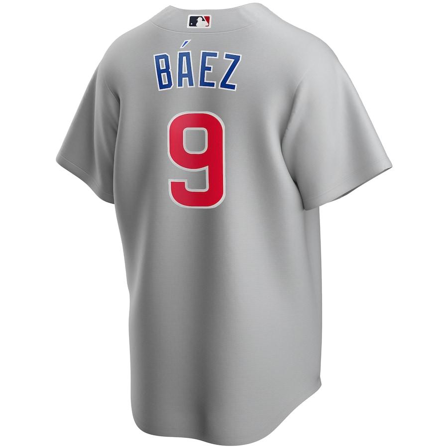Javier Baez #9  Chicago Cubs Road 2020 Replica Player Jersey - Gray