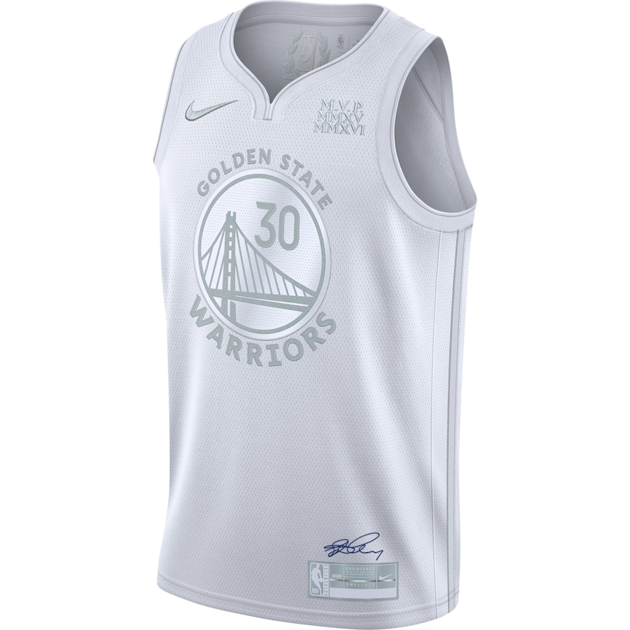 Swingman Stephen Curry #30 Golden State Warriors Jersey By Nike White