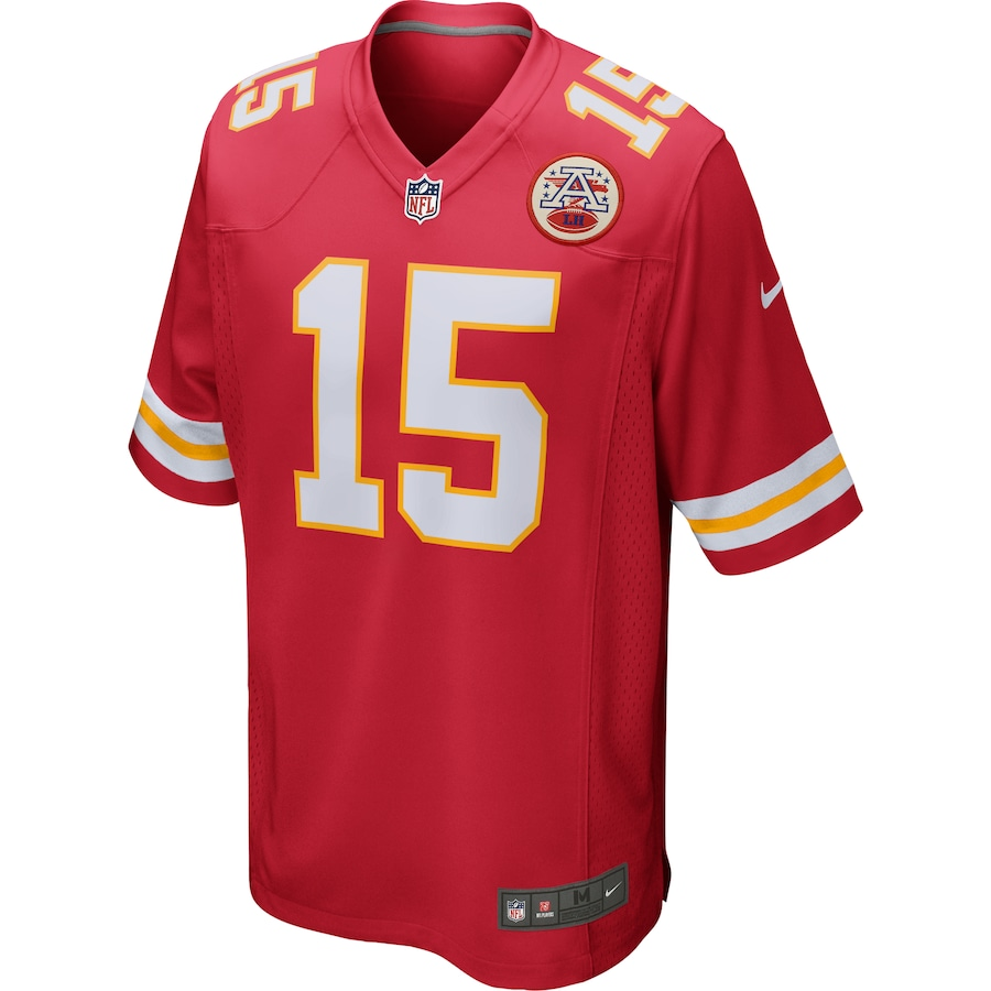 Patrick Mahomes #15 Kansas City Chiefs Game Jersey - Red
