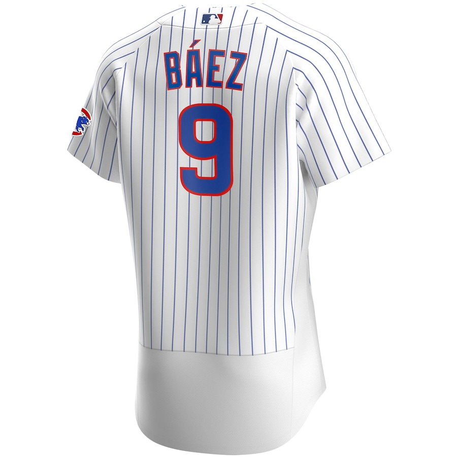 Javier Baez #9 Chicago Cubs Home 2020 Authentic Player Jersey - White