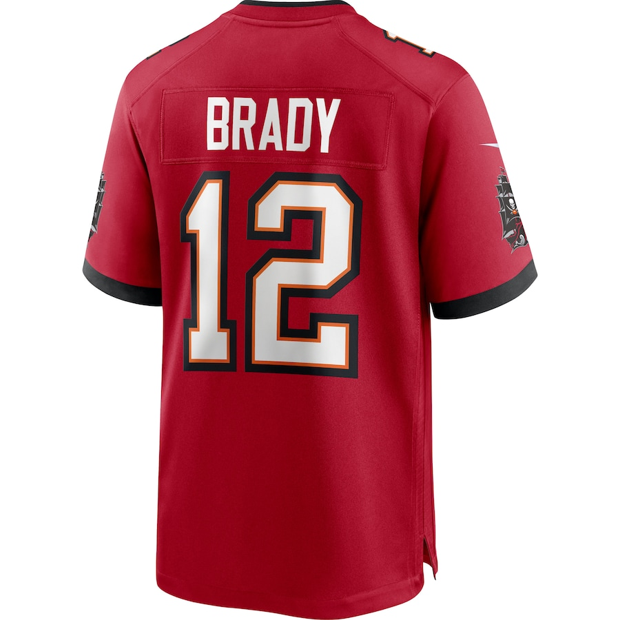 Tom Brady #12 Tampa Bay Buccaneers Game Jersey - Red