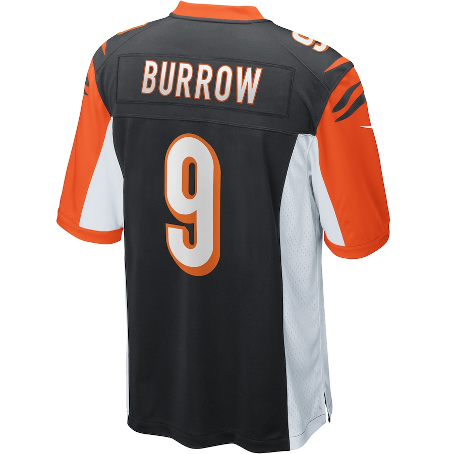 Joe Burrow #9 Cincinnati Bengals 2020 NFL Draft First Round Pick Game Jersey - Black