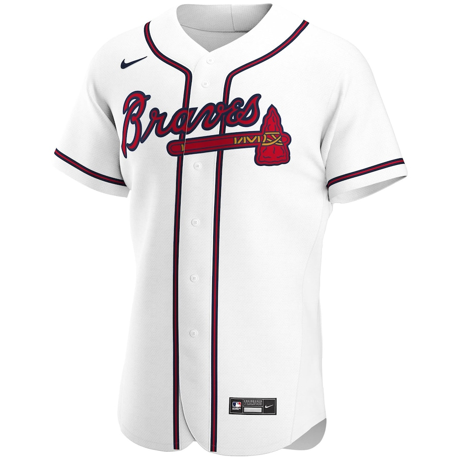 Ronald Acuna Jr. #13 Atlanta Braves Home 2020 Authentic Player Jersey - White