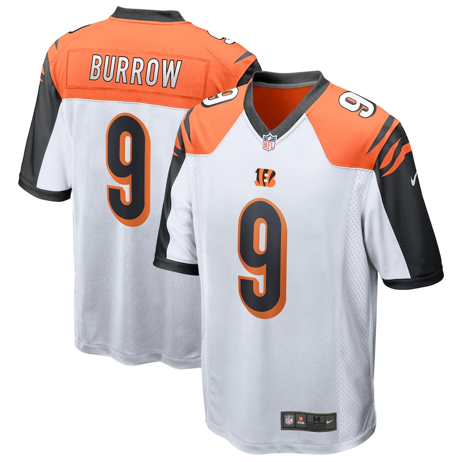 Joe Burrow #9 Cincinnati Bengals 2020 NFL Draft First Round Pick Game Jersey - White