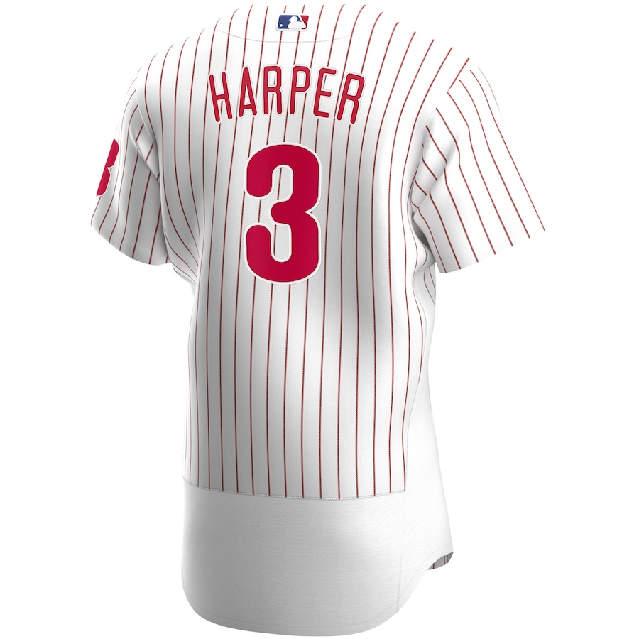Bryce Harper #3 Philadelphia Phillies Home 2020 Authentic Player Jersey - White