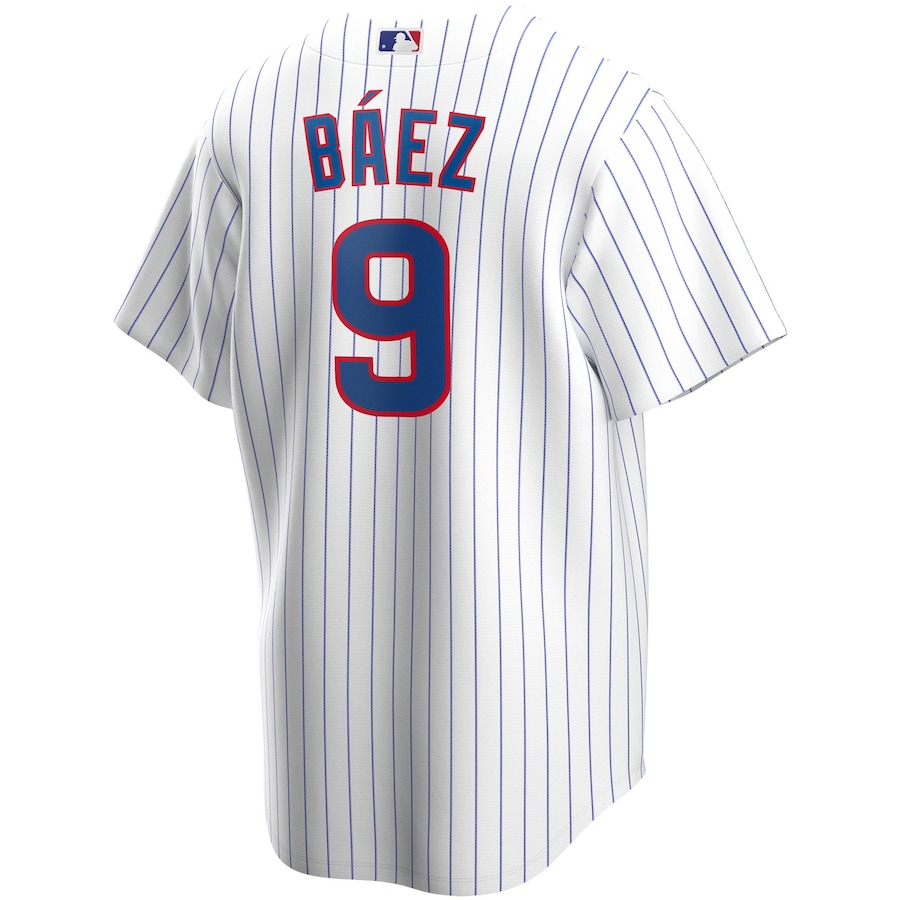 Javier Baez #9 Chicago Cubs Home 2020 Replica Player Jersey - White