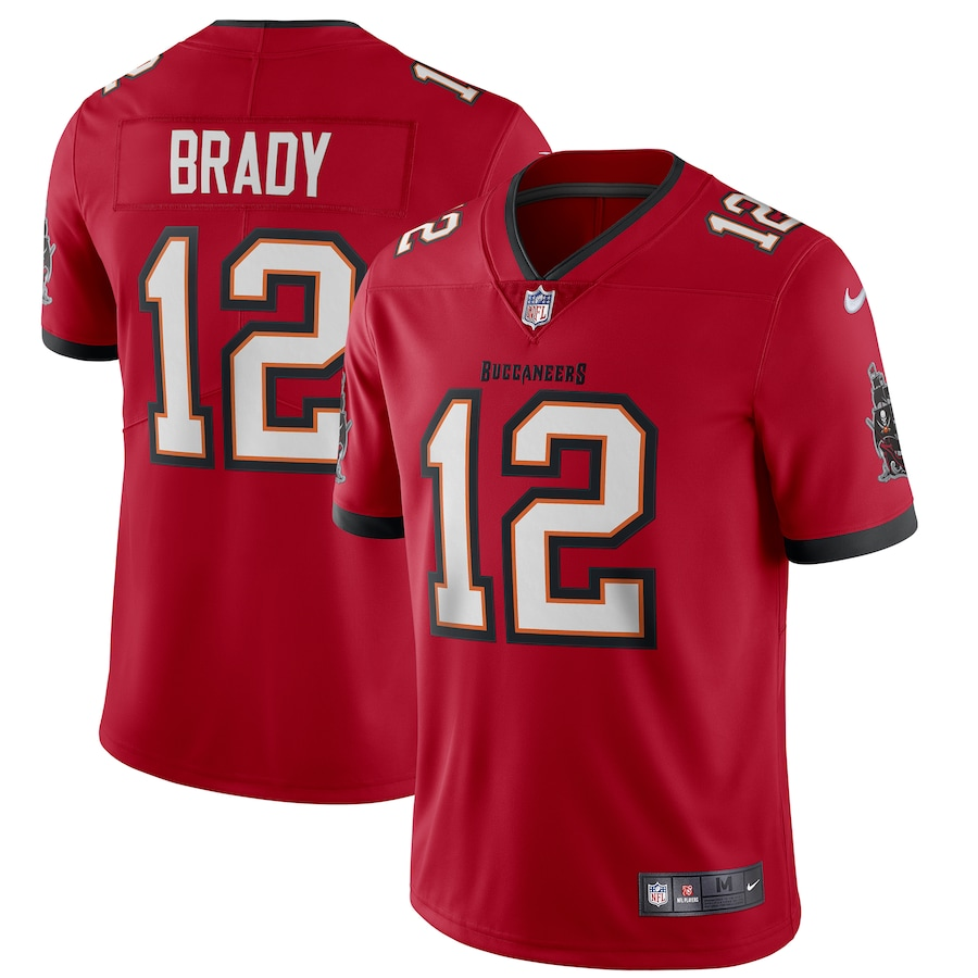 Tom Brady #12 Tampa Bay Buccaneers Vapor Limited Jersey - Red