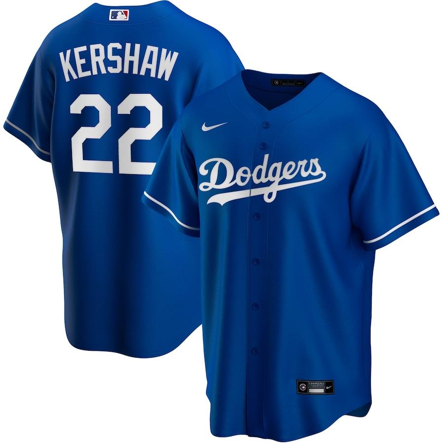 MLB Kershaw #22 Los Angeles Dodgers Baseball Jersey 2020