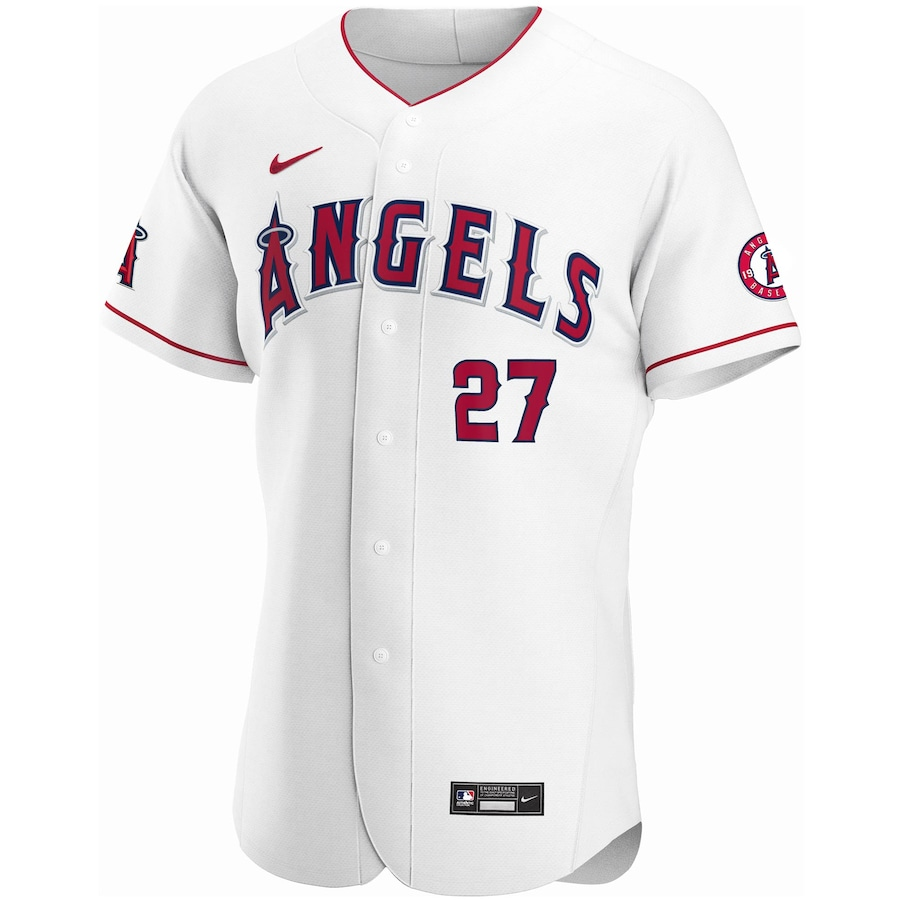 Mike Trout #27 Los Angeles Angels Home 2020 Authentic Player Jersey - White