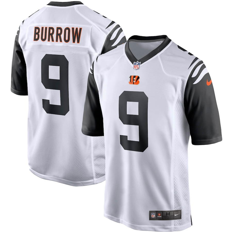 Joe Burrow #9 Cincinnati Bengals Alternate 2 Game Player Jersey - White