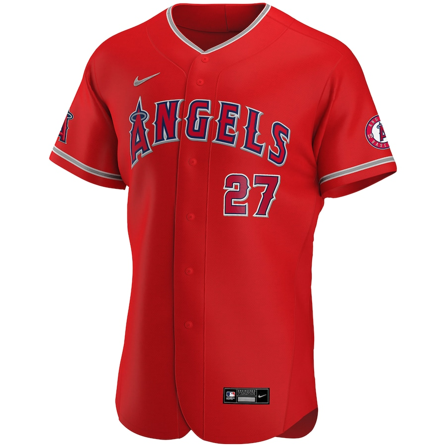 Mike Trout #27 Los Angeles Angels Alternate 2020 Authentic Player Jersey - Red
