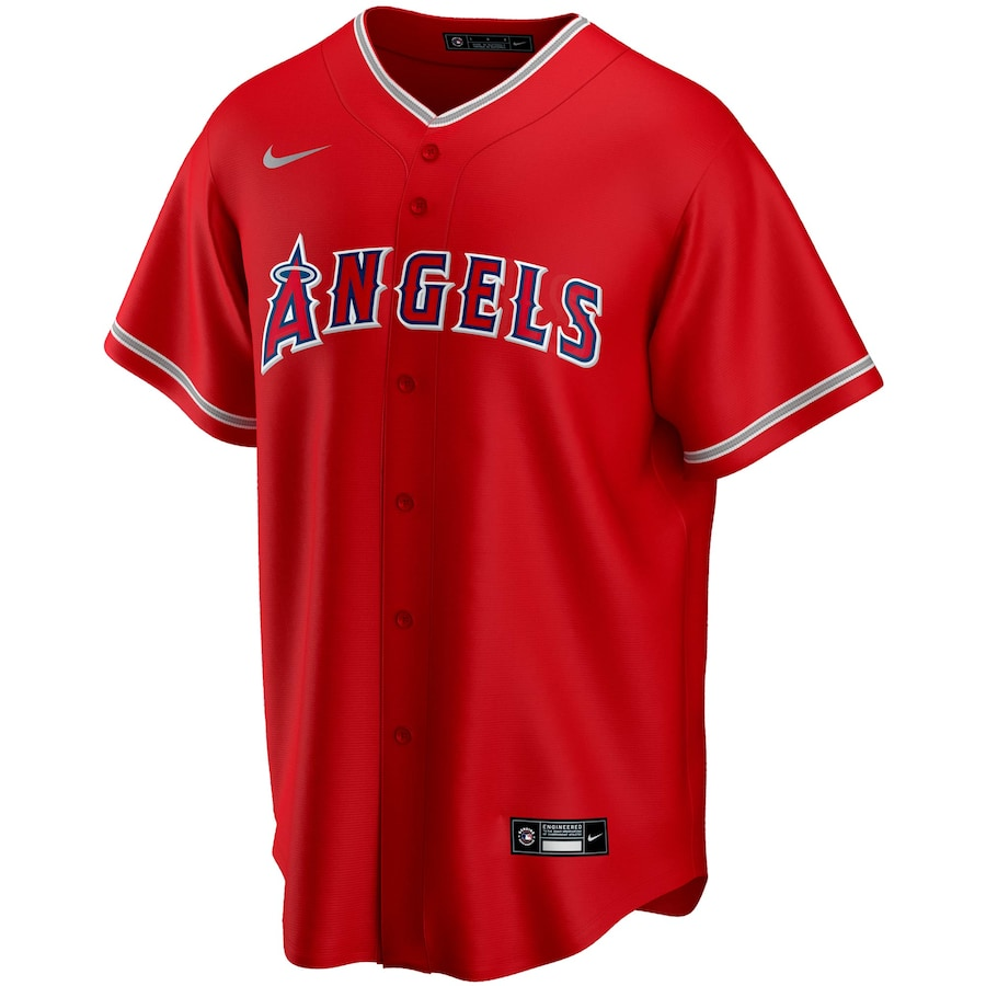 Mike Trout #27 Los Angeles Angels Alternate 2020 Replica Player Jersey - Red