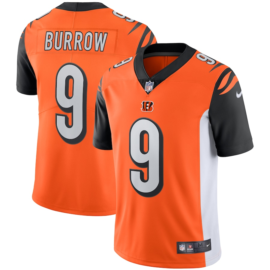 Joe Burrow #9 Cincinnati Bengals Vapor Limited Jersey - Orange