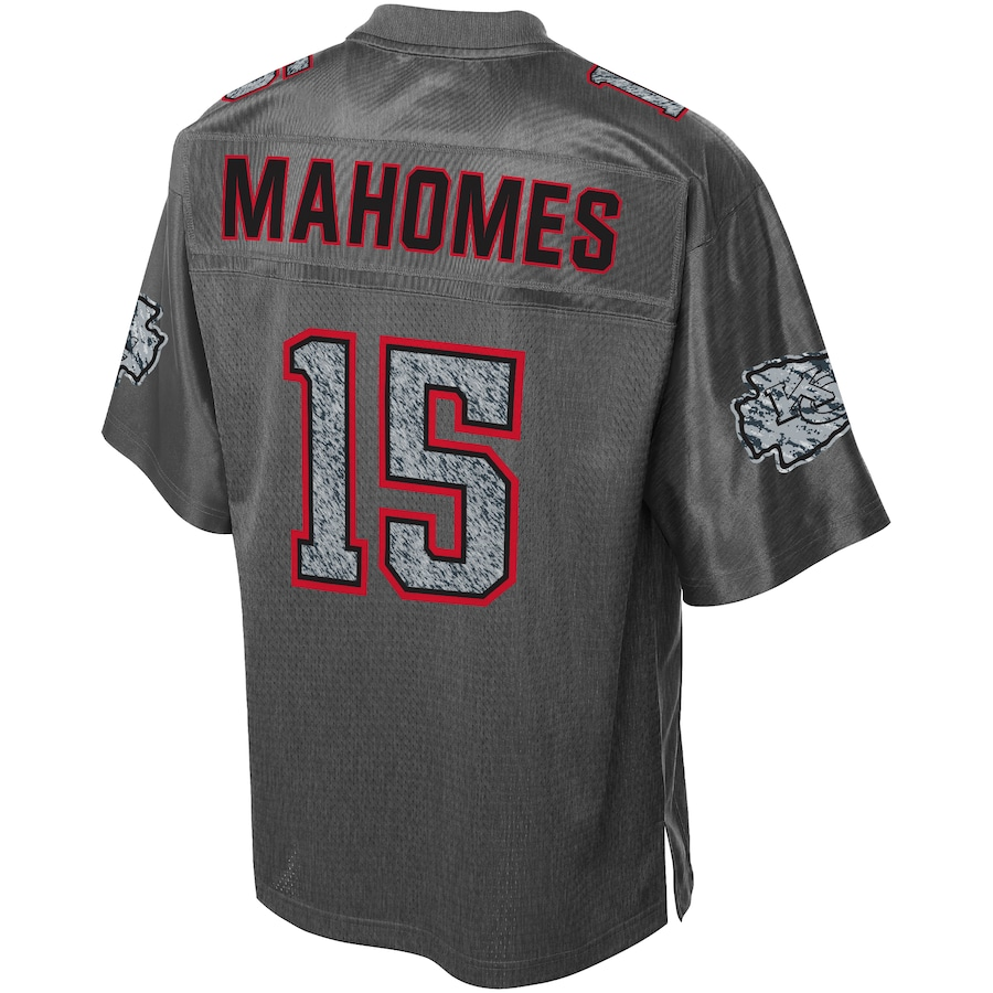 Patrick Mahomes #15 Kansas City Chiefs Static Fashion Jersey - Heather Charcoal