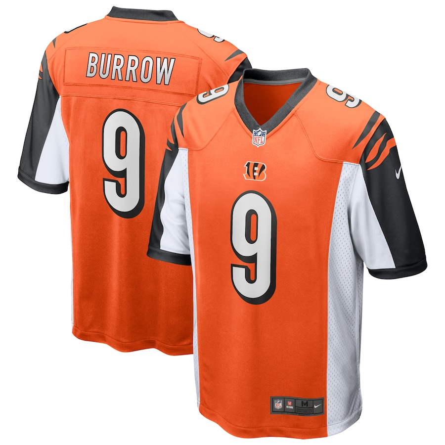 Joe Burrow #9 Cincinnati Bengals 2020 NFL Draft First Round Pick Game Jersey - Orange