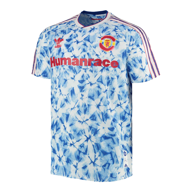 Manchester United Human Race Blue Soccer Jerseys Shirt