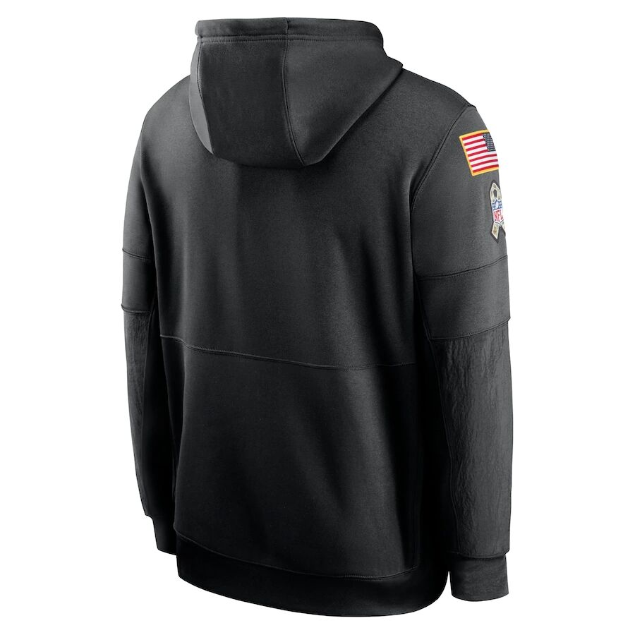 Men's Tennessee Titans Black 2020 Salute to Service Sideline Performance Pullover Hoodie
