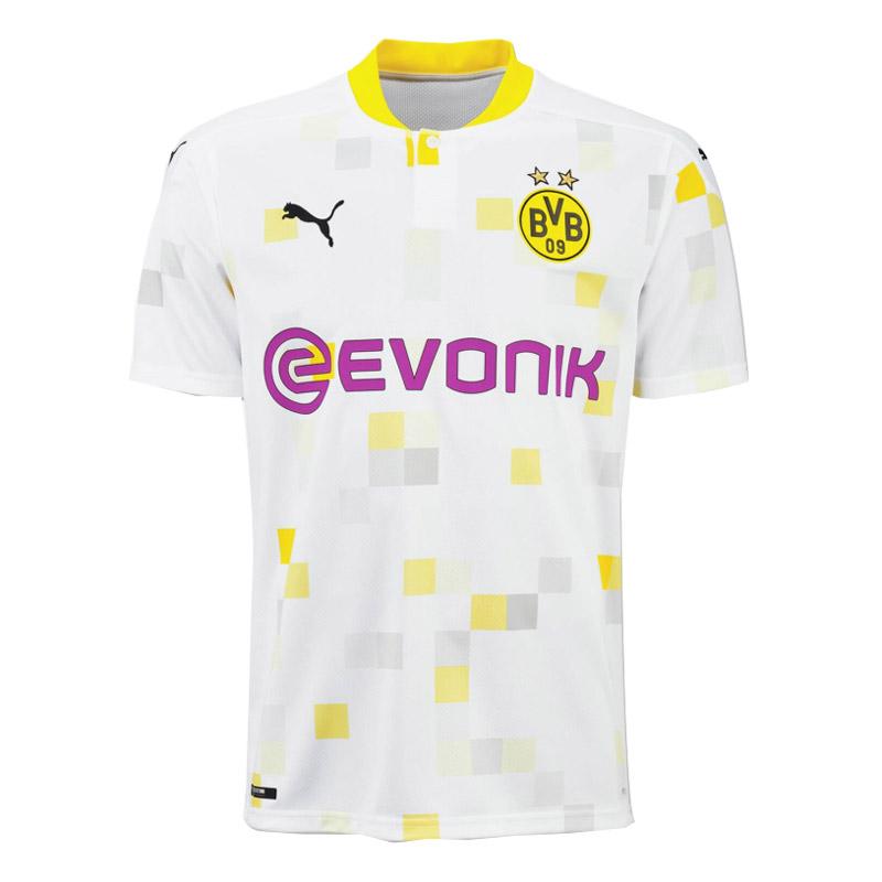 20/21 Borussia Dortmund Cup Away White Soccer Jerseys Shirt