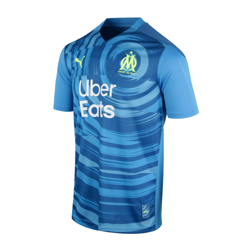 20/21 Marseille Third Away Jersey Blue Soccer Jerseys Shirt