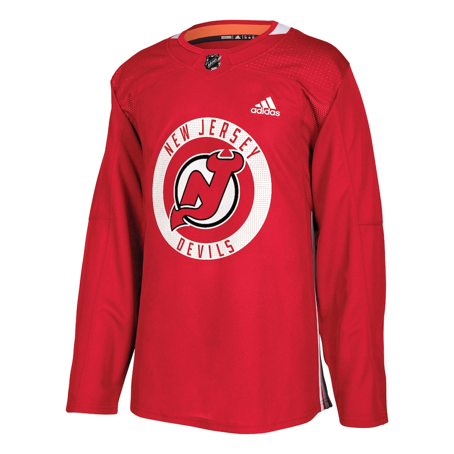 Taylor Hall #9 New Jersey Devils adidas Practice Player Jersey - Red