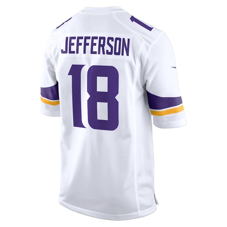 Justin Jefferson #18 Minnesota Vikings Nike Game Jersey – White