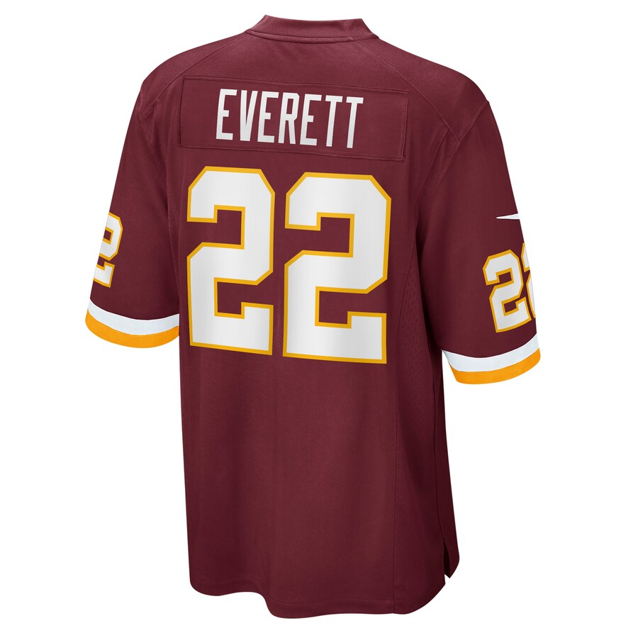 Deshazor Everett #22 Washington Football Team Nike Game Player Jersey - Burgundy
