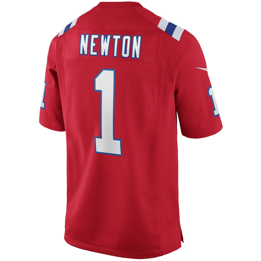 Cam Newton #1 New England Patriots Nike Alternate Game Jersey - Red