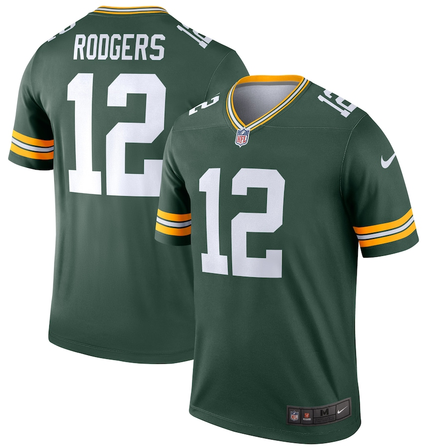 Aaron Rodgers #12 Green Bay Packers Nike Legend Jersey - Green