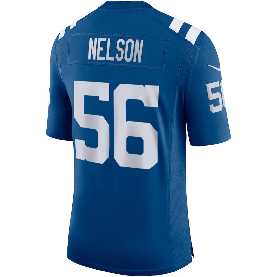 Quenton Nelson #56 Indianapolis Colts Nike Vapor Limited Jersey - Royal