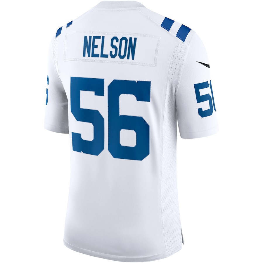 Quenton Nelson #56 Indianapolis Colts Nike Vapor Limited Jersey - White