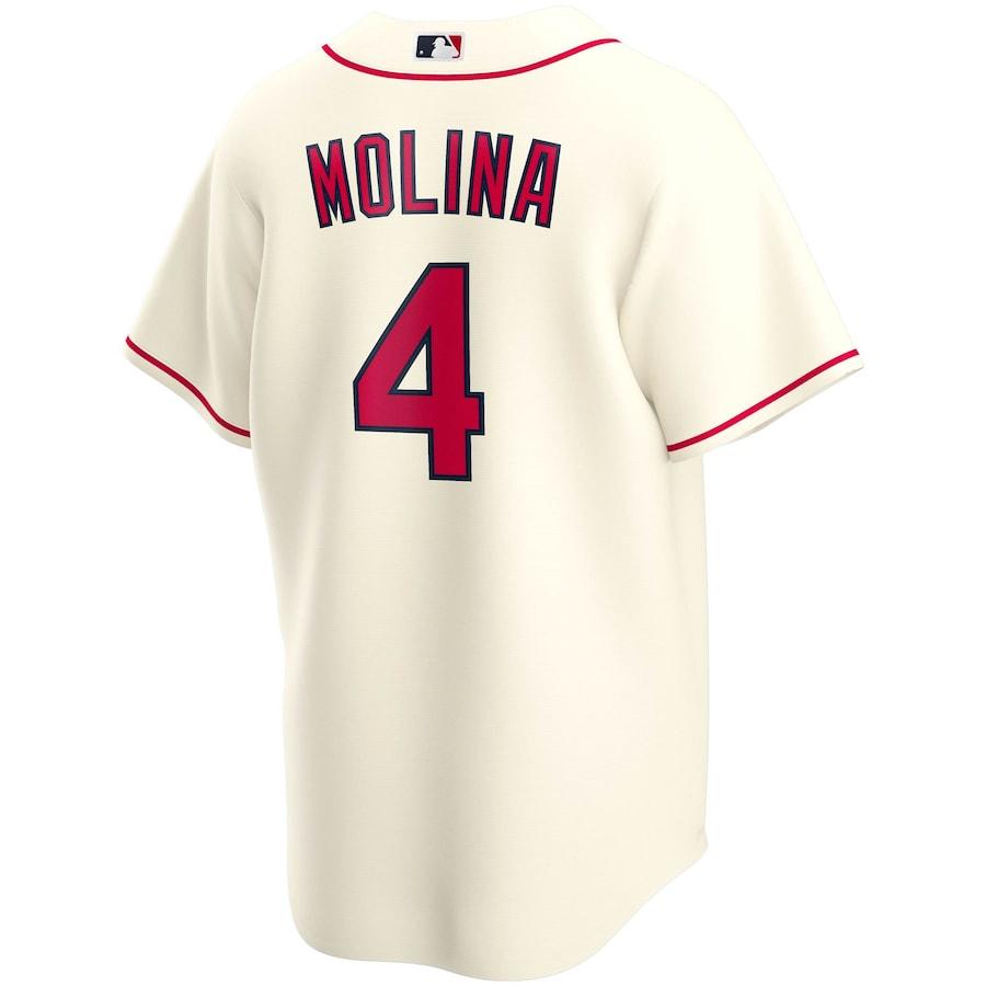 Yadier Molina #4 St. Louis Cardinals Nike Alternate 2020 Replica Player Jersey - Cream