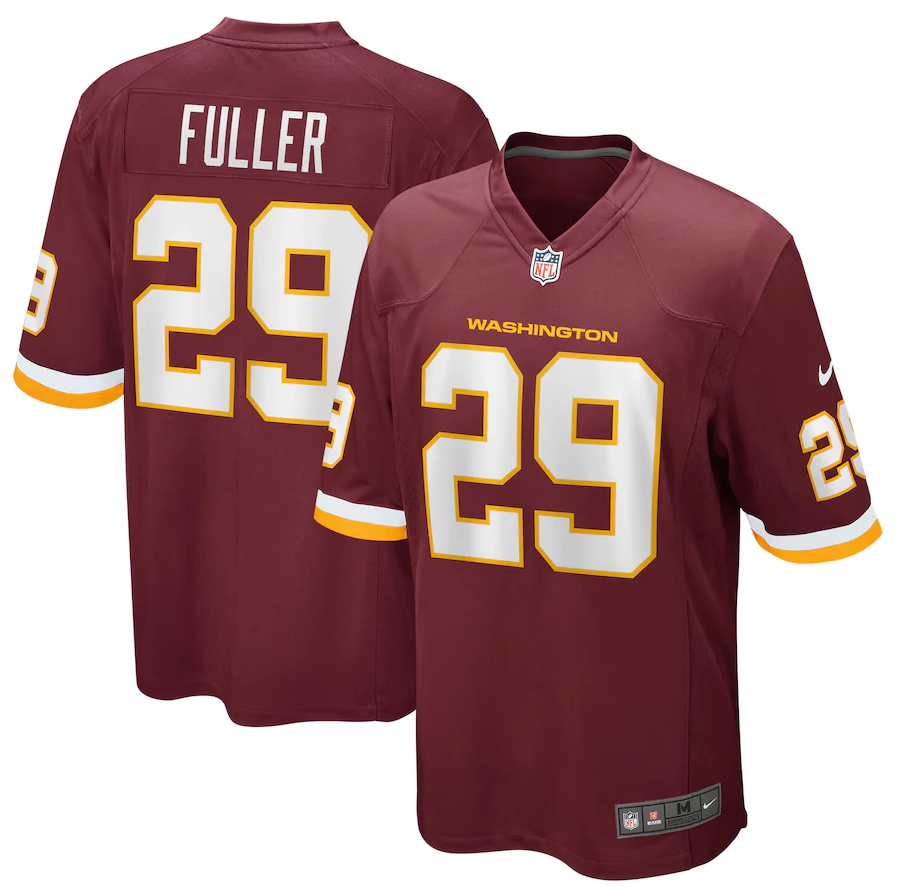 Kendall Fuller #29 Washington Football Team Nike Team Game Jersey – Burgundy