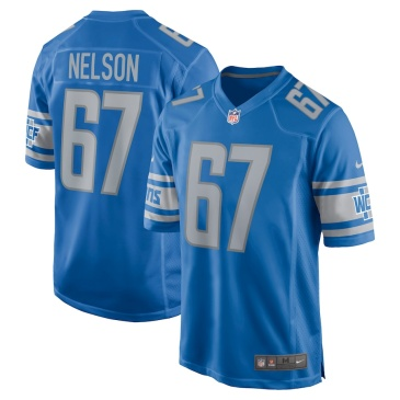 NFL Nelson #67 Detroit Lions Game Jersey
