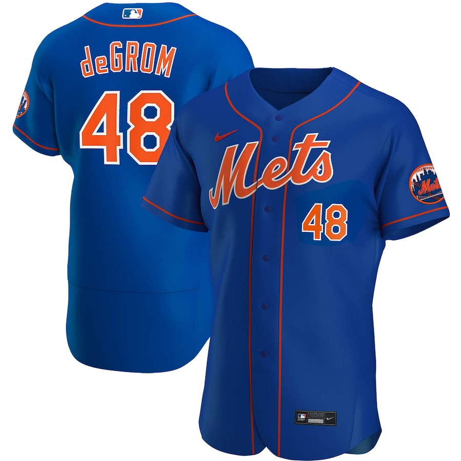 Jacob deGrom #48 New York Mets Nike Alternate 2020 Authentic Player Jersey - Royal