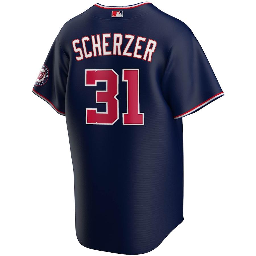Max Scherzer #31 Washington Nationals Nike Alternate 2020 Replica Player Jersey - Navy