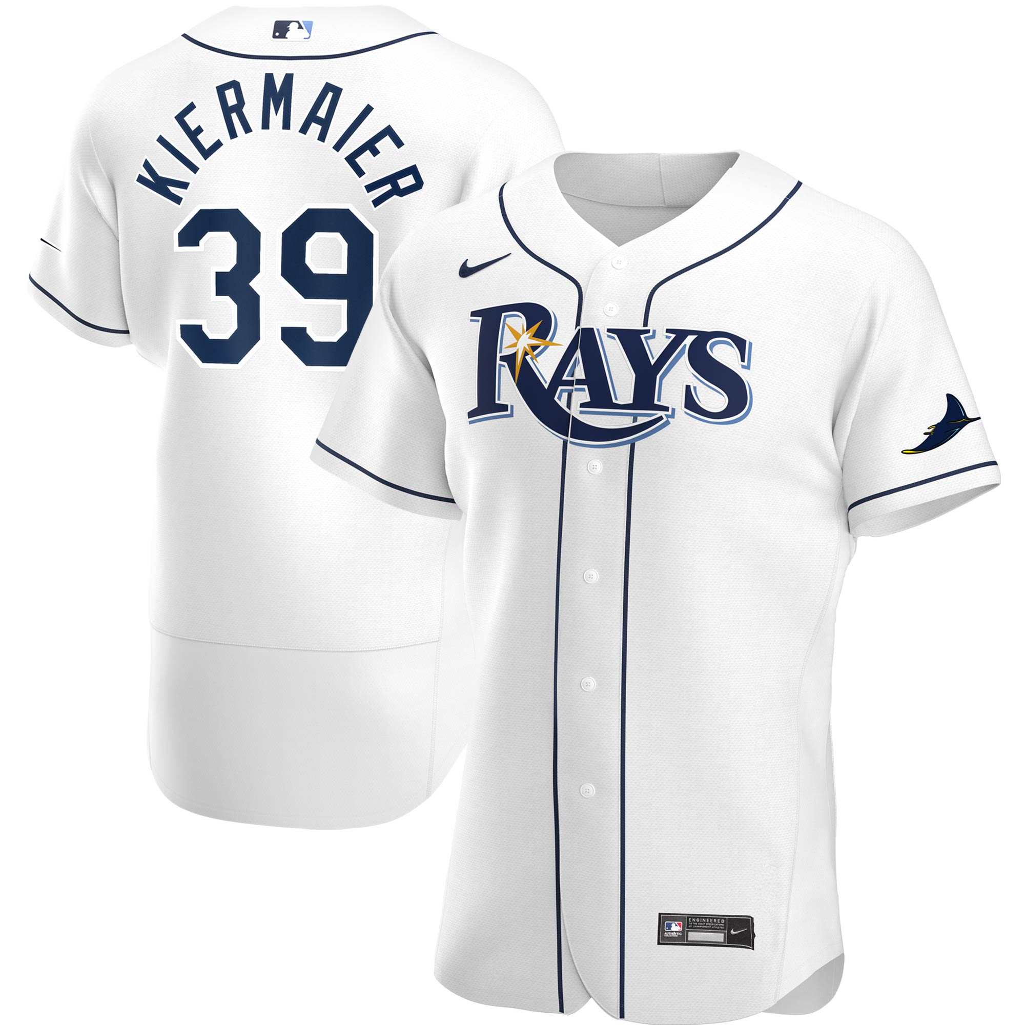 Kevin Kiermaier #39 Tampa Bay Rays Nike Home 2020 Authentic Player Jersey - White