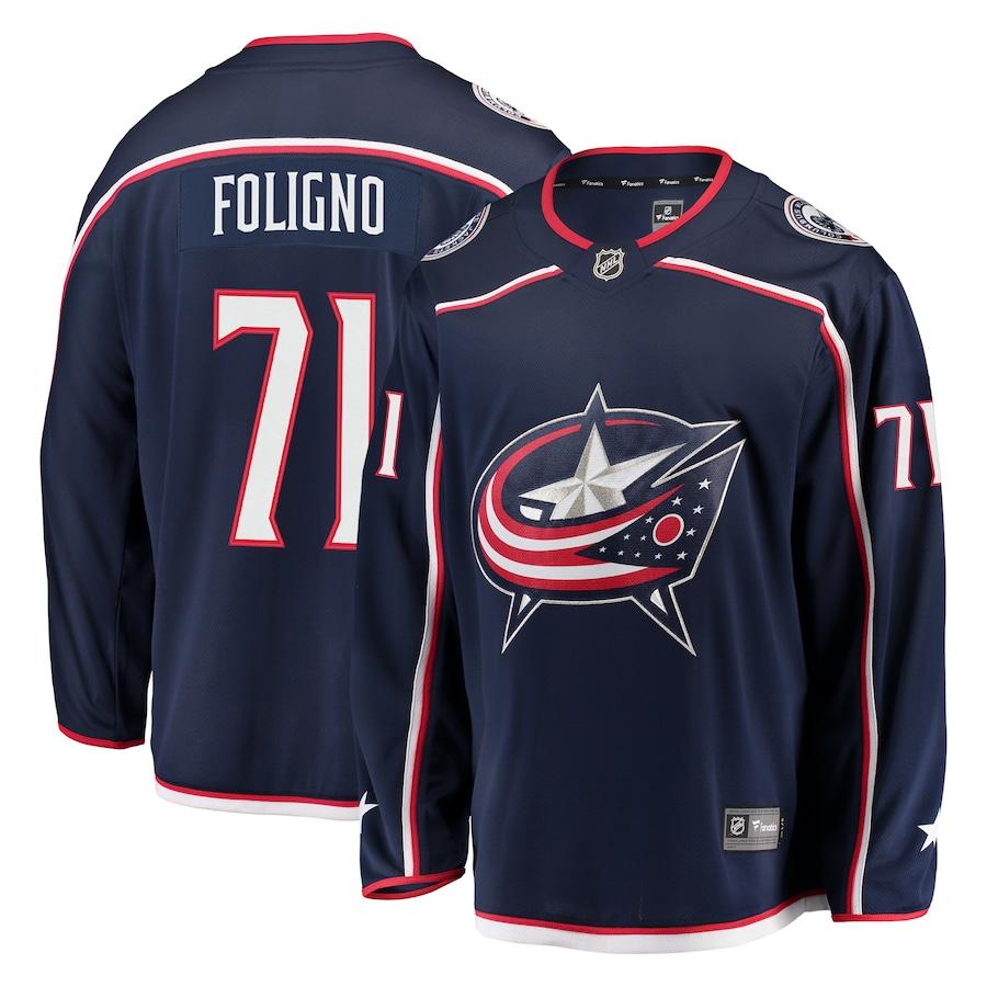 Nick Foligno #71 Columbus Blue Jackets adidas Authentic Player Jersey - Navy