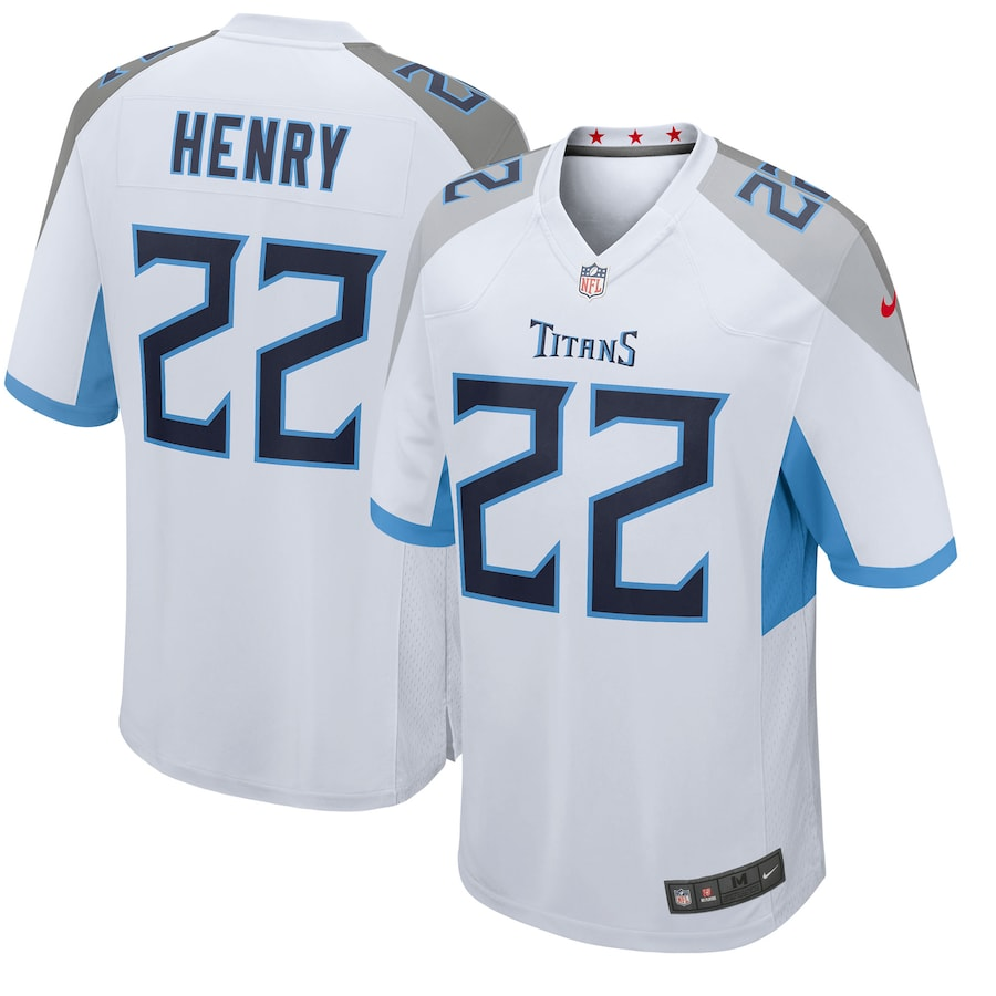 Derrick Henry #22 Tennessee Titans Nike Player Game Jersey - White