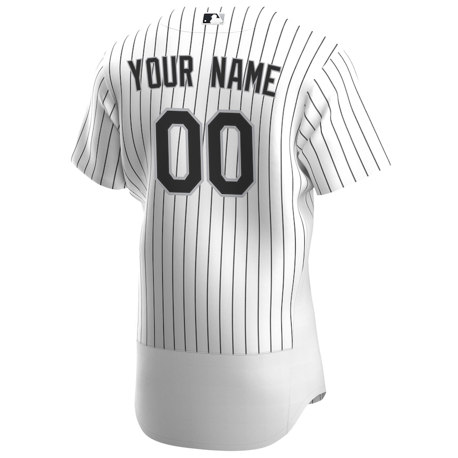 Chicago White Sox Nike 2020 Home Authentic Custom Jersey - White/Black