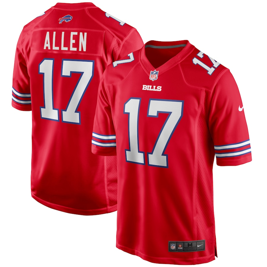 Josh Allen #17 Buffalo Bills Nike Alternate Game Jersey - Red