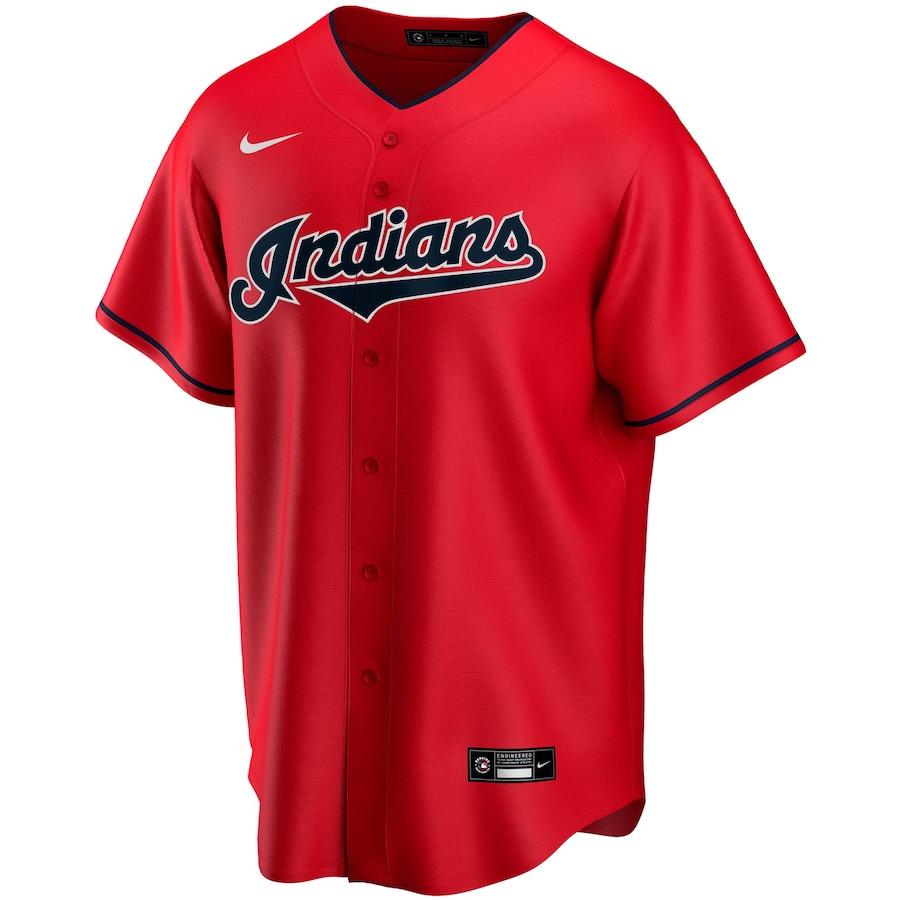 Shane Bieber #57 Cleveland Indians Nike Alternate 2020 Replica Player Jersey – Red