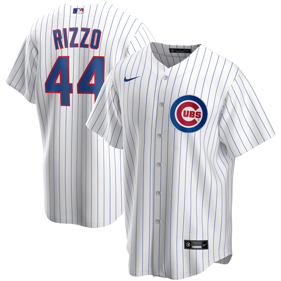 Anthony Rizzo #44 Chicago Cubs Nike Home 2020 Replica Player Jersey - White
