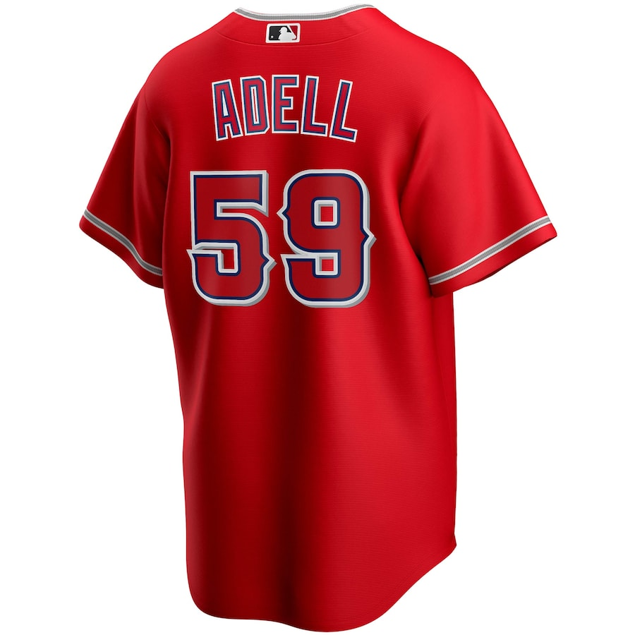 Jo Adell #59 Los Angeles Angels Nike Alternate 2020 Replica Player Jersey – Red