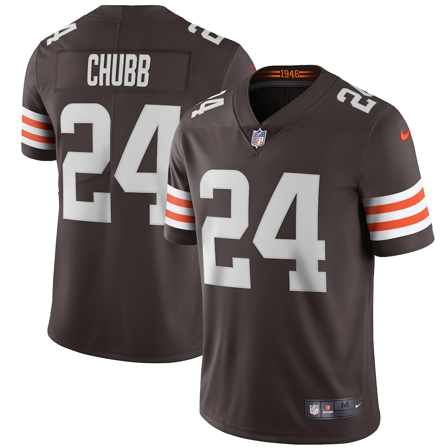 Nick Chubb #24 Cleveland Browns Nike Vapor Limited Jersey - Brown