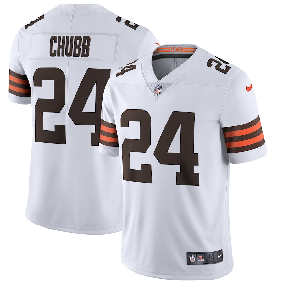 Nick Chubb #24 Cleveland Browns Nike Vapor Limited Jersey - White