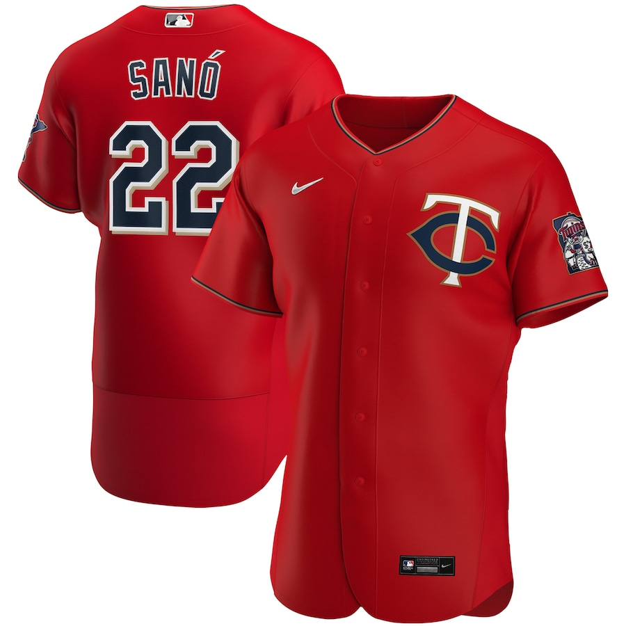 Miguel Sano #22  Minnesota Twins Nike Alternate 2020 Authentic Player Jersey - Red