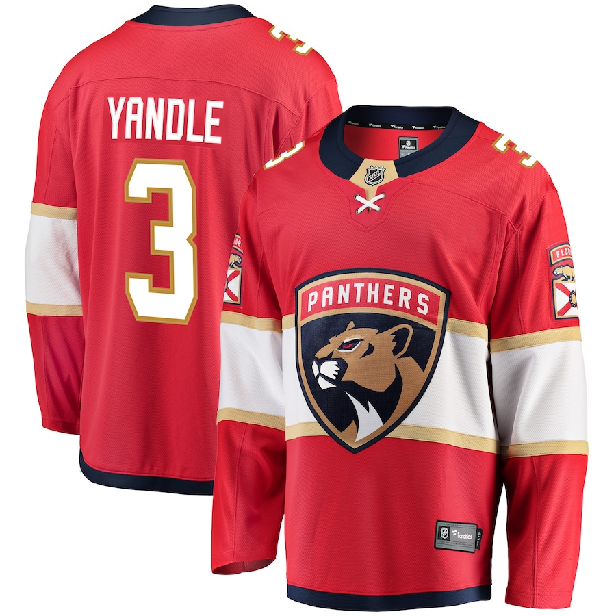 Keith Yandle #3 Florida Panthers NHL Breakaway Player Jersey - Red